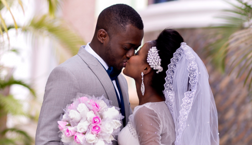 Nigerian White Wedding Folake and Dotun Seun Kilanko Studios LoveweddingsNG Couple Kiss feat