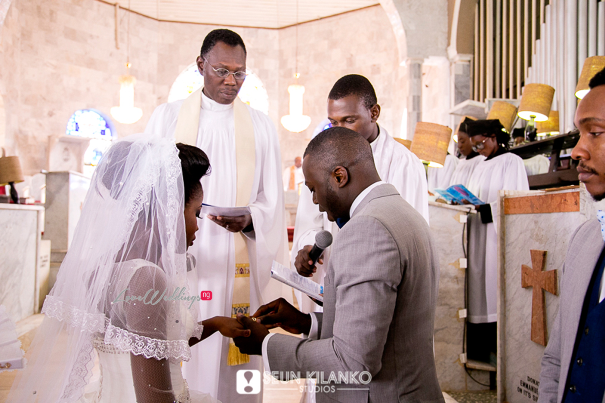 Nigerian White Wedding Folake and Dotun Seun Kilanko Studios LoveweddingsNG Ring Wed