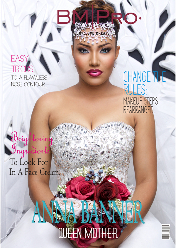 Anna Ebiere Banner Bride Wedding Gown BMPro Covers May 2016 LoveweddingsNG