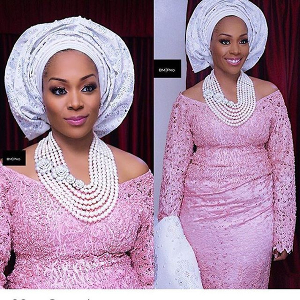 Coco Adeleke Traditional Wedding Outfit Bimmms24