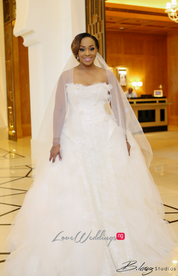 Coco Adeleke and Caleb Adaji White Wedding in Dubai Bride Gown BLawz Studios LoveweddingsNG
