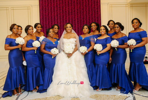 Coco Adeleke and Caleb Adaji White Wedding in Dubai Bride and Bridesmaids BLawz Studios LoveweddingsNG