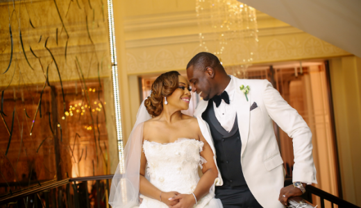 Coco Adeleke and Caleb Adaji White Wedding in Dubai Bride and Groom BLawz Studios LoveweddingsNG 1