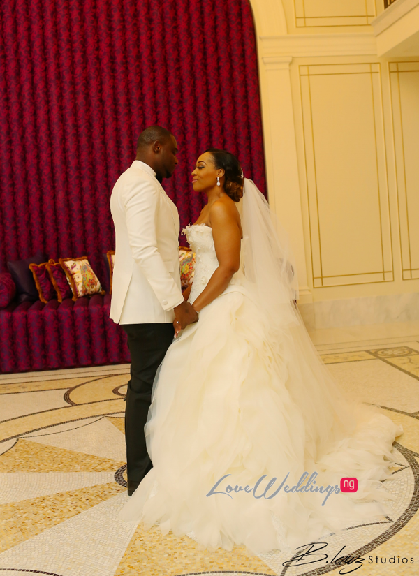 Coco Adeleke and Caleb Adaji White Wedding in Dubai Bride and Groom BLawz Studios LoveweddingsNG