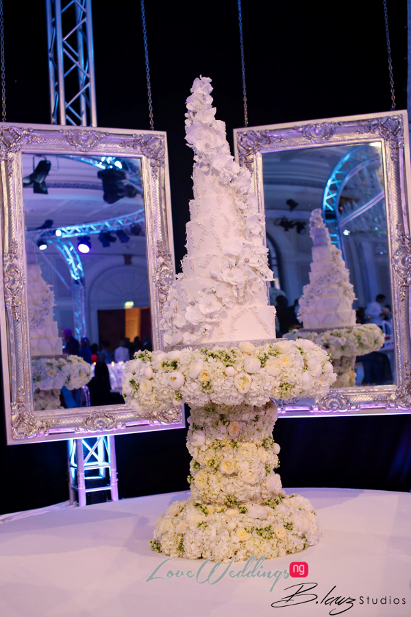 Coco Adeleke and Caleb Adaji White Wedding in Dubai Cake BLawz Studios LoveweddingsNG