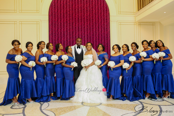 Coco Adeleke and Caleb Adaji White Wedding in Dubai Couple and Bridesmaids BLawz Studios LoveweddingsNG