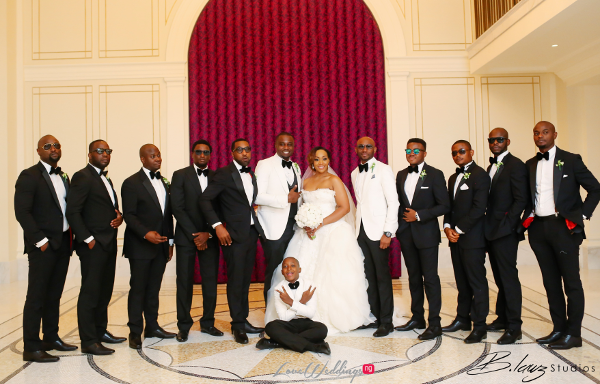 Coco Adeleke and Caleb Adaji White Wedding in Dubai Couple and Groomsmen BLawz Studios LoveweddingsNG