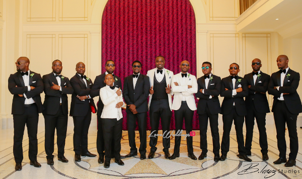 Coco Adeleke and Caleb Adaji White Wedding in Dubai Groom and Groomsmen BLawz Studios LoveweddingsNG 10