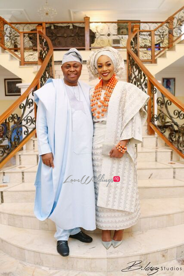 Davido's sister Coco weds Caleb Traditional Wedding Bride and Father LoveweddingsNG 2