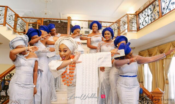 Davido's sister Coco weds Caleb Traditional Wedding Bride and Friends Oya Dab LoveweddingsNG 1