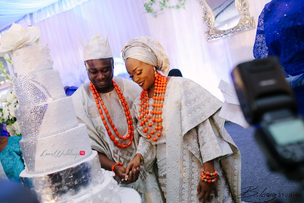 Davido's sister Coco weds Caleb Traditional Wedding Cake LoveweddingsNG