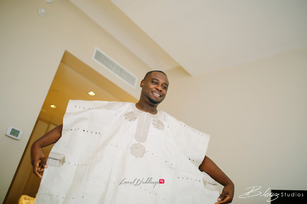 Davido's sister Coco weds Caleb Traditional Wedding Groom Agbada LoveweddingsNG 1