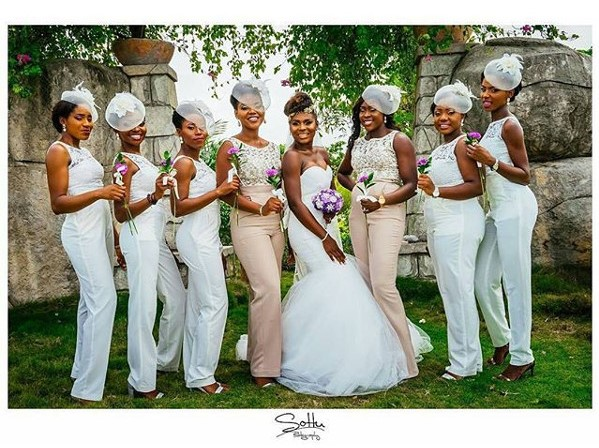 Jide weds Morayo Odukoya Bride and Bridesmaids White Wedding Ige Olabode Photography LoveweddingsNG #MJ2016