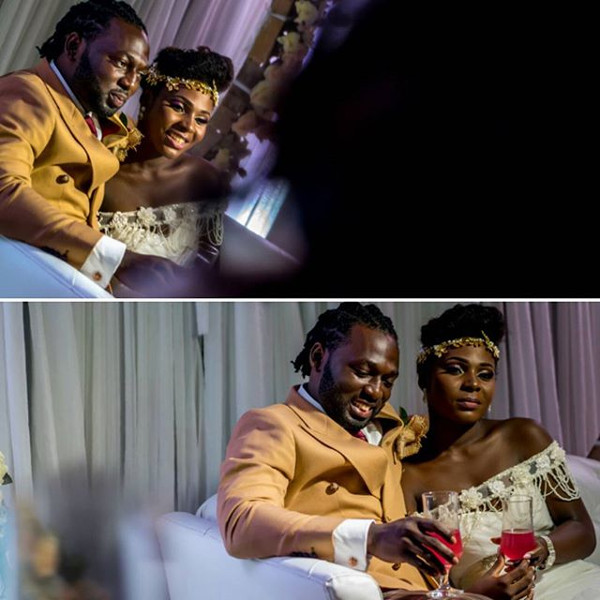 Jide weds Morayo Odukoya Bride and Groom White Wedding KAP Studios LoveweddingsNG #MJ2016