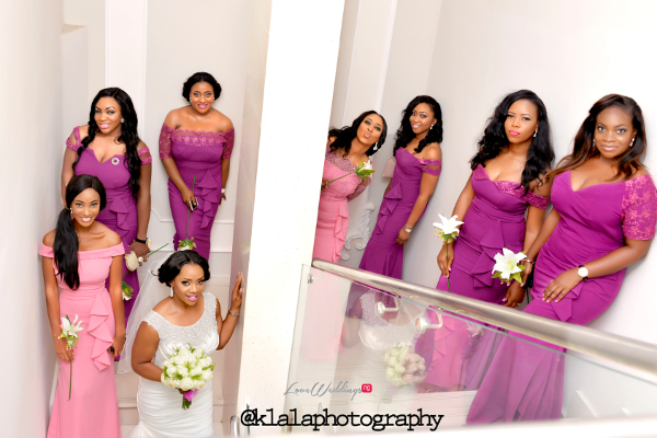 Nigerian Bride and Bridesmaids Isioma and Ifeanyi LoveweddingsNG Klala Photography 1