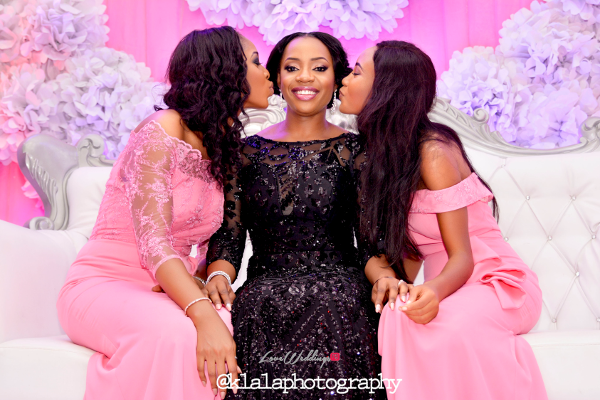 Nigerian Bride in Black and Bridesmaids in Pink Isioma and Ifeanyi LoveweddingsNG Klala Photography