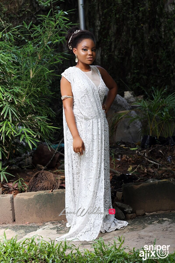 Nigerian Garden Shoot Artsmith Collections by Gbenga Dada - Grecian Goddess LoveweddingsNG