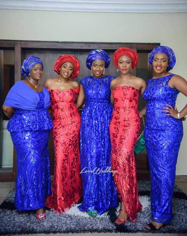 Nigerian Traditional Aso Ebi girls Jane and Solomon Lemmy Vedutti Photography LoveweddingsNG 1
