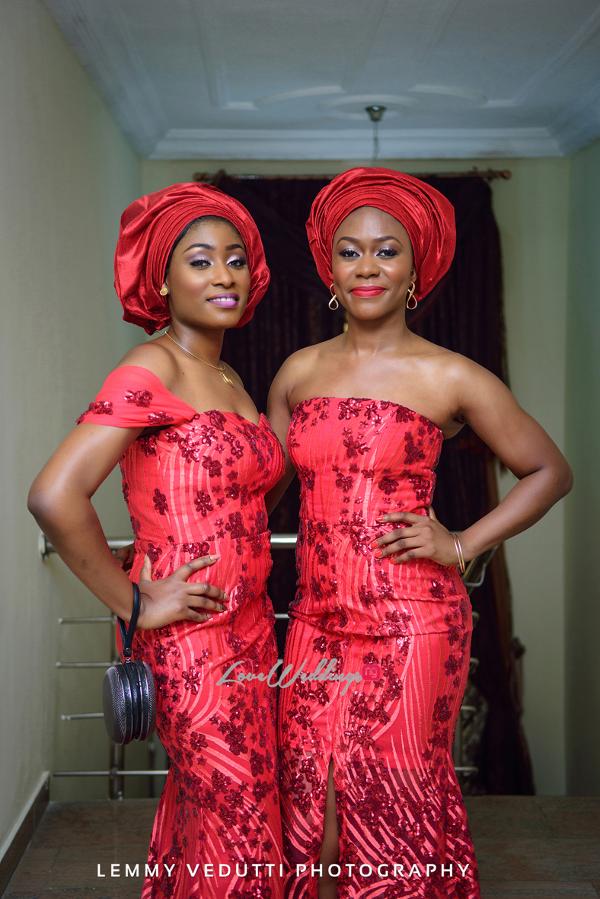 Nigerian Traditional Aso Ebi girls Jane and Solomon Lemmy Vedutti Photography LoveweddingsNG