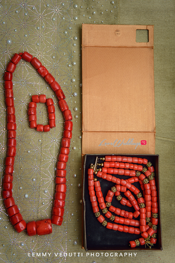 Nigerian Traditional Beads Jane and Solomon Lemmy Vedutti Photography LoveweddingsNG