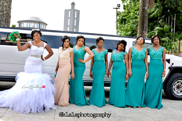 Nigerian Wedding Anu and Toye Bride and Bridesmaids LoveweddingsNG Klala Photography 1