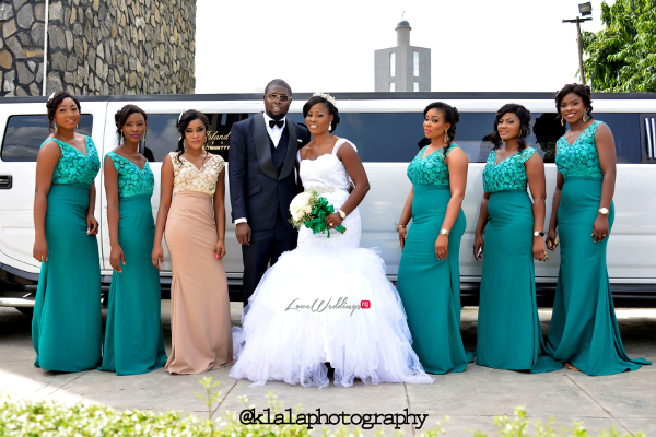 Nigerian Wedding Anu and Toye Couple and Bridesmaids LoveweddingsNG Klala Photography
