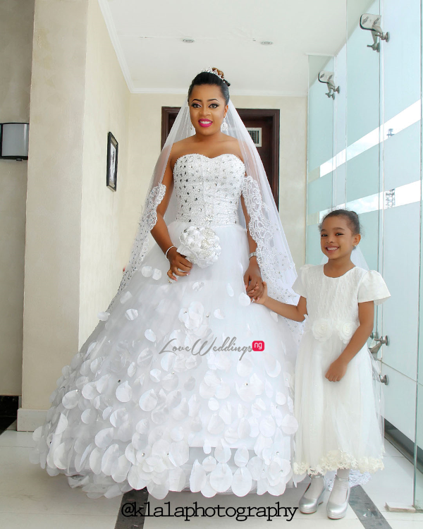 Nigerian Wedding Bride and Little Bride LoveweddingsNG Klala Photography