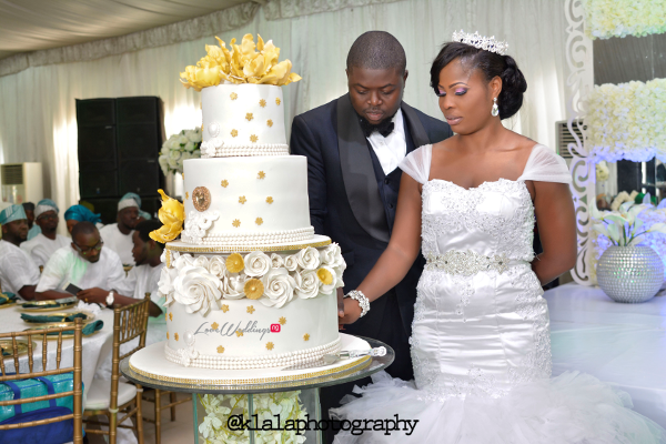 Nigerian Wedding Cake Anu and Toye LoveweddingsNG Klala Photography