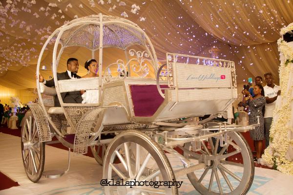 Nigerian Wedding Susan and Washington Grand Entrance Carriage Reception LoveweddingsNG Klala Photography