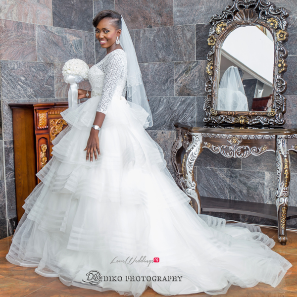 Nigerian White Wedding Esther and Ben Bride Diko Photography LoveweddingsNG