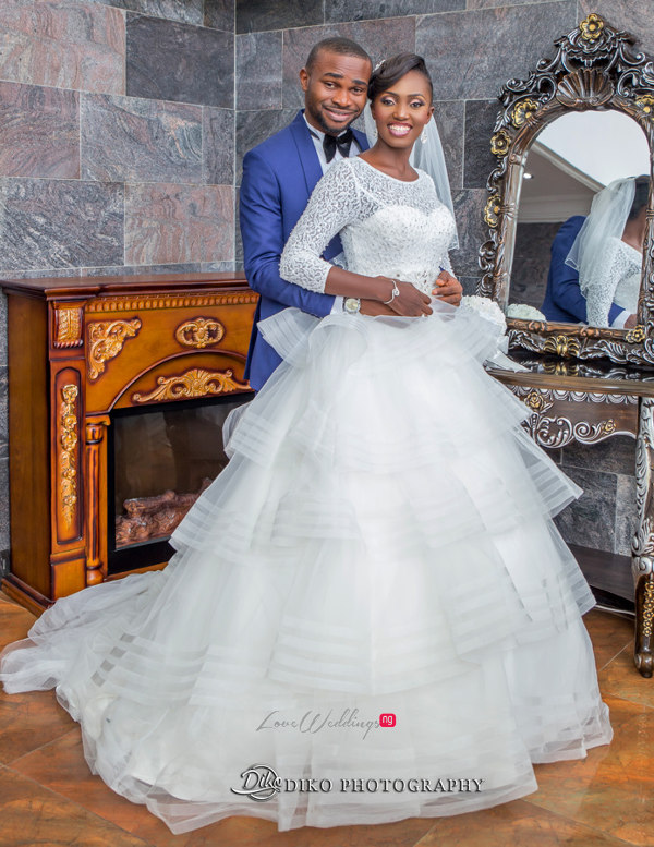 Nigerian White Wedding Esther and Ben Bride and Groom Diko Photography LoveweddingsNG 1