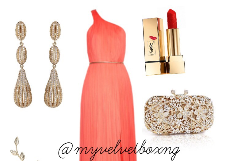 Red Carpet Inspired Look 1 My Velvet Box NG LoveweddingsNG