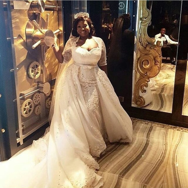 Tolu Oniru Tunde Demuren Dubai Wedding Bridal Gown LoveweddingsNG 1