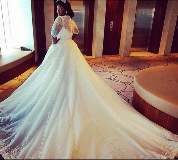Tolu Oniru Tunde Demuren Dubai Wedding Bridal Gown LoveweddingsNG