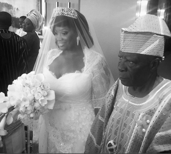 Tolu Oniru Tunde Demuren Dubai Wedding Bride and Father Aisle LoveweddingsNG