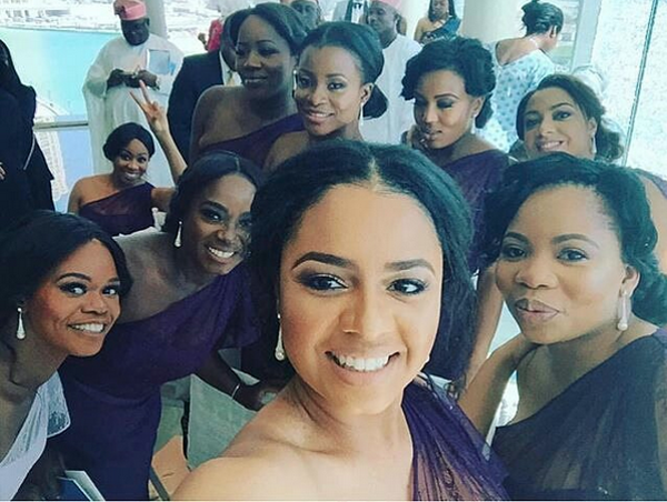 Tolu Oniru Tunde Demuren Dubai Wedding Bridesmaids LoveweddingsNG