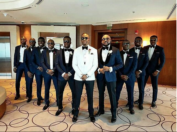 Tolu Oniru Tunde Demuren Dubai Wedding Groom and Groomsmen LoveweddingsNG 2