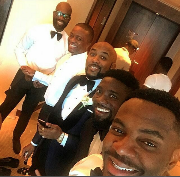 Tolu Oniru Tunde Demuren Dubai Wedding Groom and Groomsmen LoveweddingsNG