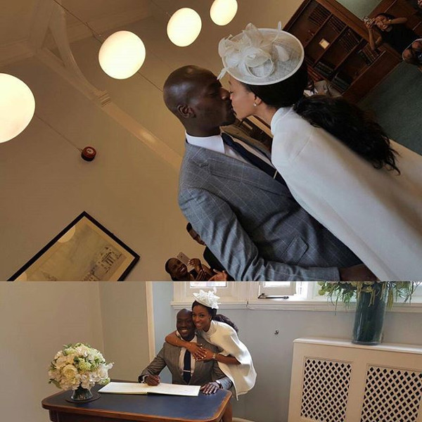 Kandi weds Dele #Kandele Courthouse Wedding LoveweddingsNG