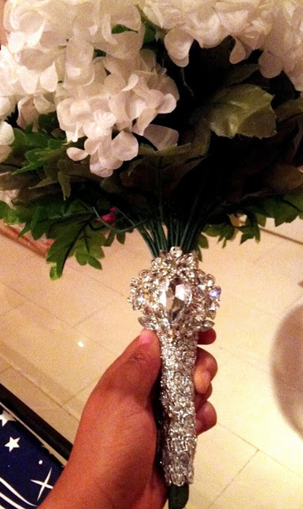 Nigerian Bridal Bouquet DIY Alma Jesse LoveweddingsNG 1