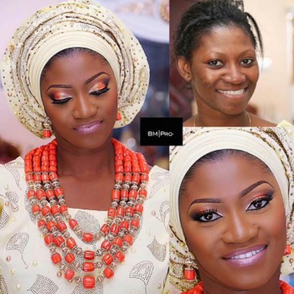Nigerian Bridal Makeover BMPro LoveweddingsNG