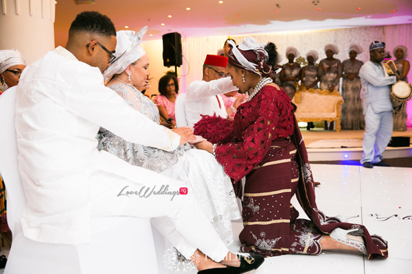 Nigerian Ghanaian Wedding Abi and Olivia Traditional Bride Parents Praying LoveweddingsNG