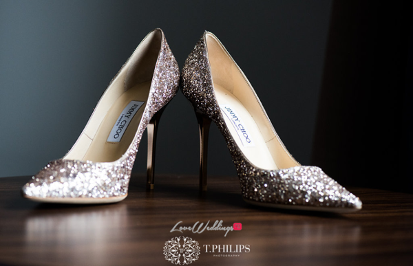 Nigerian Ghanaian White Wedding Abi and Olivia Bridal Shoes LoveweddingsNG