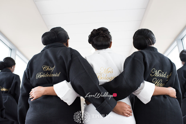 Nigerian Ghanaian White Wedding Abi and Olivia Bride and Bridesmaids LoveweddingsNG