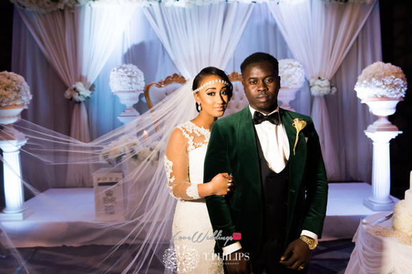 Nigerian Ghanaian White Wedding Abi and Olivia Bride and Groom LoveweddingsNG 1