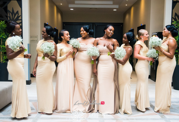 Nigerian Ghanaian White Wedding Abi and Olivia Bridesmaids LoveweddingsNG