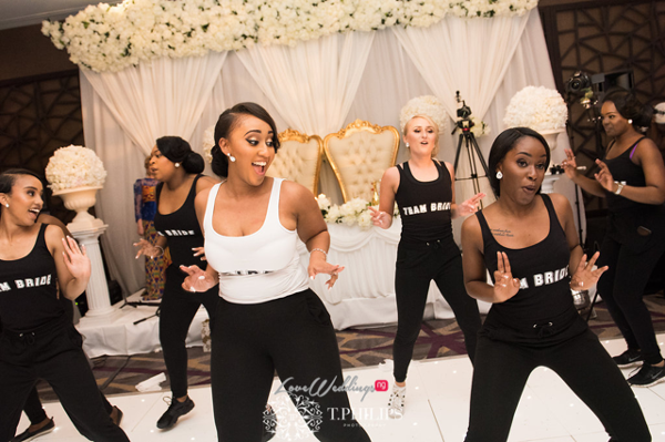 Nigerian Ghanaian White Wedding Abi and Olivia Coreographed Dance LoveweddingsNG
