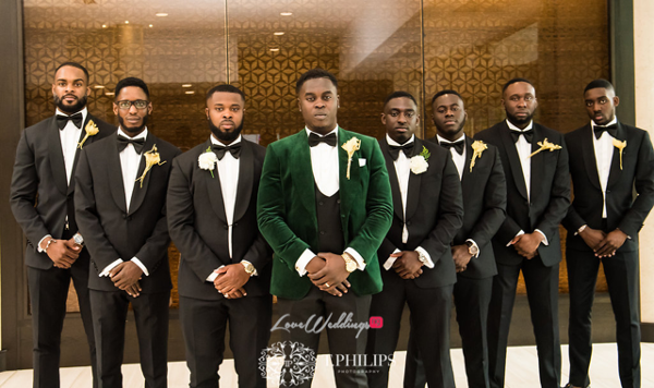 Nigerian Ghanaian White Wedding Abi and Olivia Groom and Groomsmen LoveweddingsNG