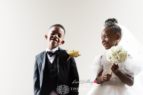 Nigerian Ghanaian White Wedding Abi and Olivia Little Bride and Page Boy LoveweddingsNG