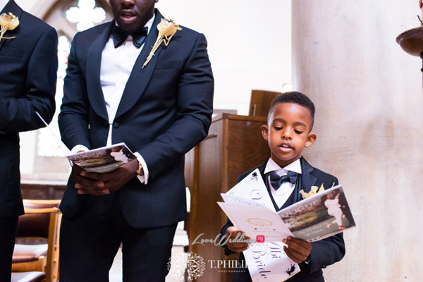Nigerian Ghanaian White Wedding Abi and Olivia Page Boy LoveweddingsNG
